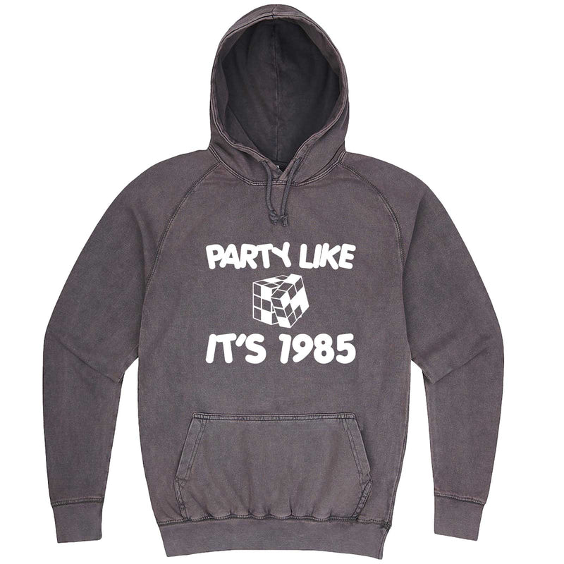 """Party Like It's 1985 - Puzzle Cube"" hoodie, 3XL, Vintage Zinc"