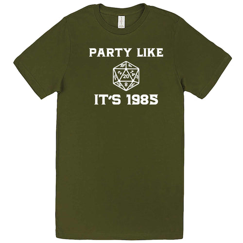 """Party Like It's 1985 - RPG Dice"" men's t-shirt Army Green"