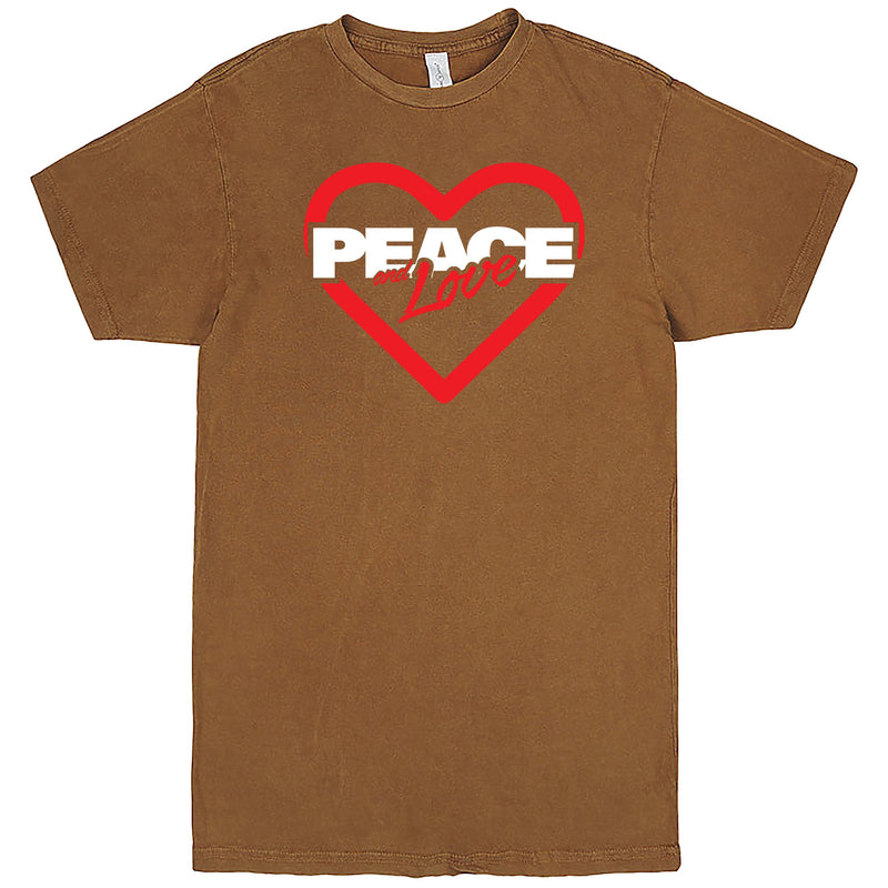 """Peace & Love"" Men's Shirt Vintage Camel"