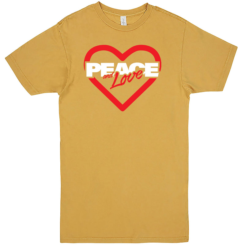 """Peace & Love"" Men's Shirt Vintage Mustard"