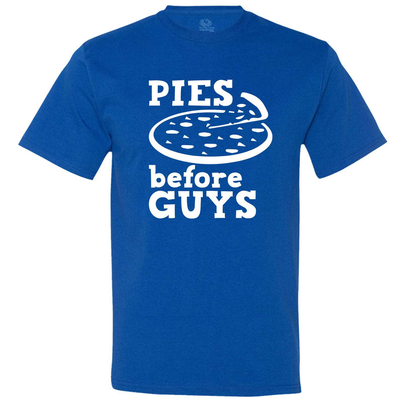 """Pies Before Guys"" men's t-shirt Royal-Blue"