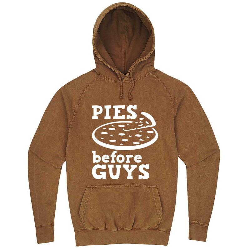 """Pies Before Guys"" hoodie, 3XL, Vintage Camel"