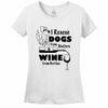 I Rescue Dogs From Shelters & Wine From Bottles Women's T-Shirt