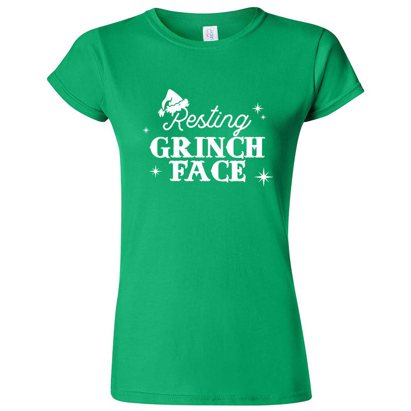 """Resting Grinch Face"" women's t-shirt Irish Green"