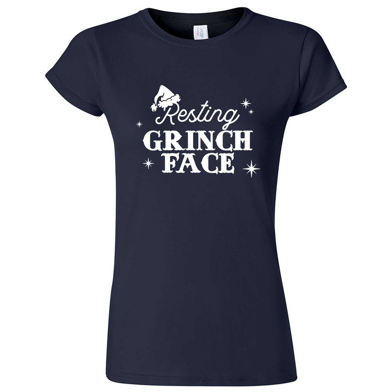"""Resting Grinch Face"" women's t-shirt Navy Blue"