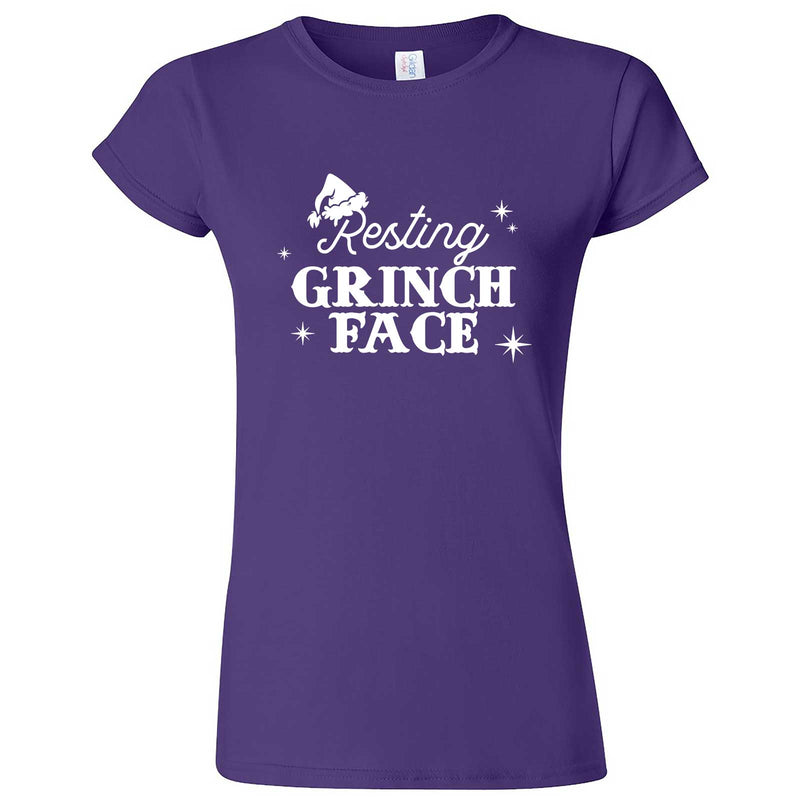 """Resting Grinch Face"" women's t-shirt Purple"