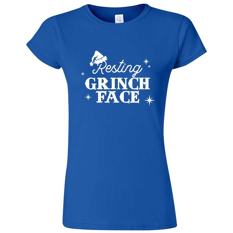 """Resting Grinch Face"" women's t-shirt Royal Blue"