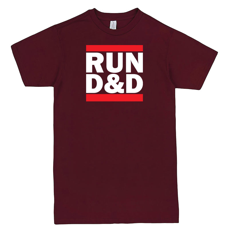 """Run D&D"" Men's Shirt Burgundy"