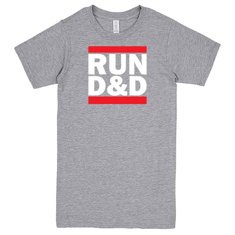 """Run D&D"" Men's Shirt Heather-Grey"