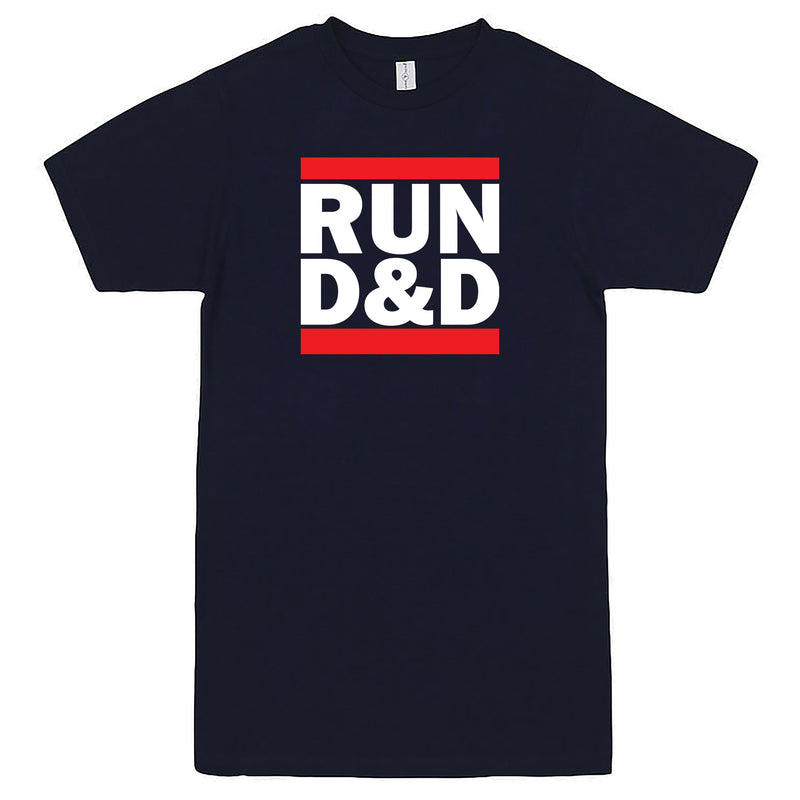 """Run D&D"" Men's Shirt Navy-Blue"