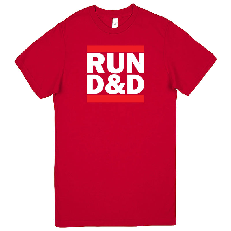 """Run D&D"" Men's Shirt Red"