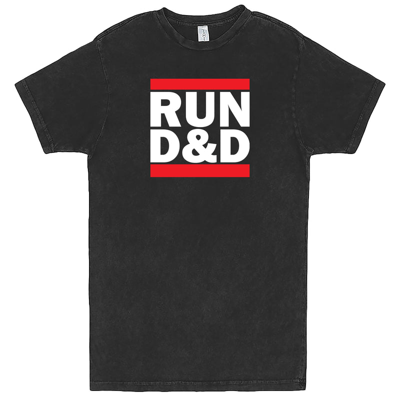 """Run D&D"" Men's Shirt Vintage Black"
