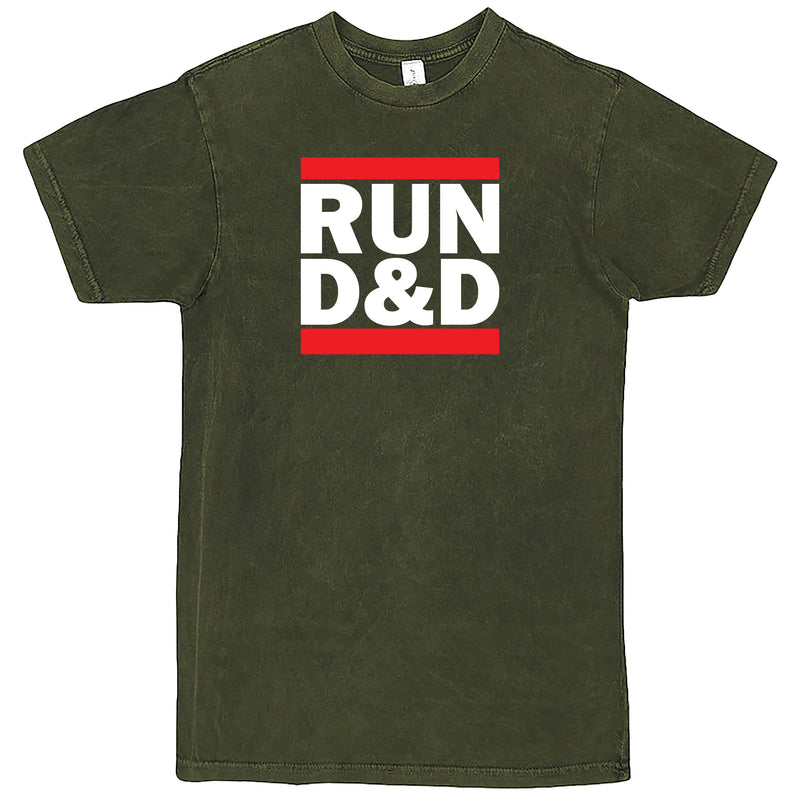 """Run D&D"" Men's Shirt Vintage Olive"