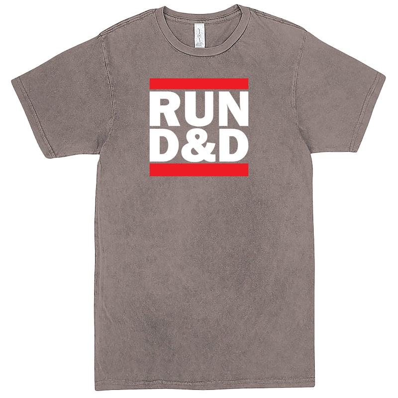 """Run D&D"" Men's Shirt Vintage Zinc"