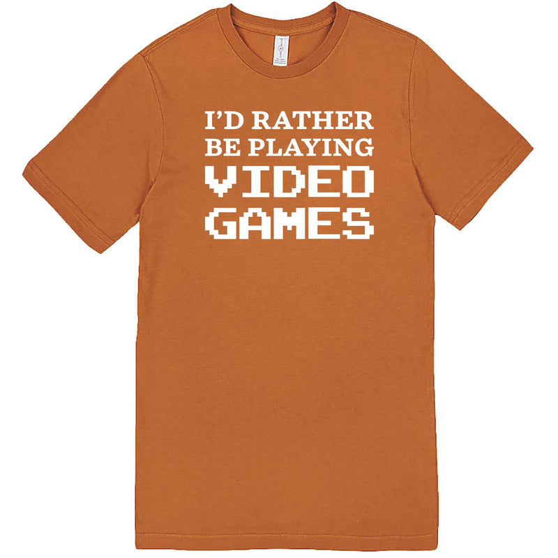 """I'd Rather Be Playing Video Games"" men's t-shirt Meerkat"