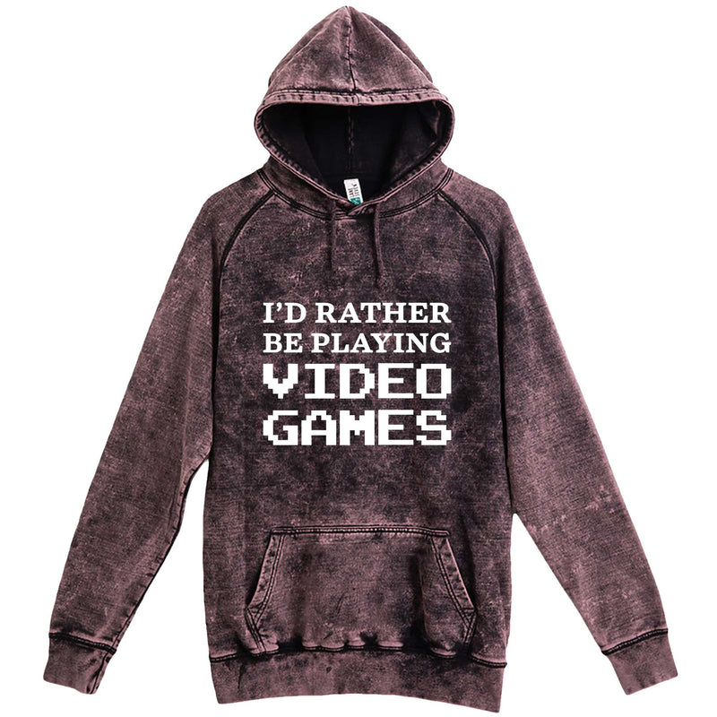 """I'd Rather Be Playing Video Games"" hoodie, 3XL, Vintage Cloud Black"