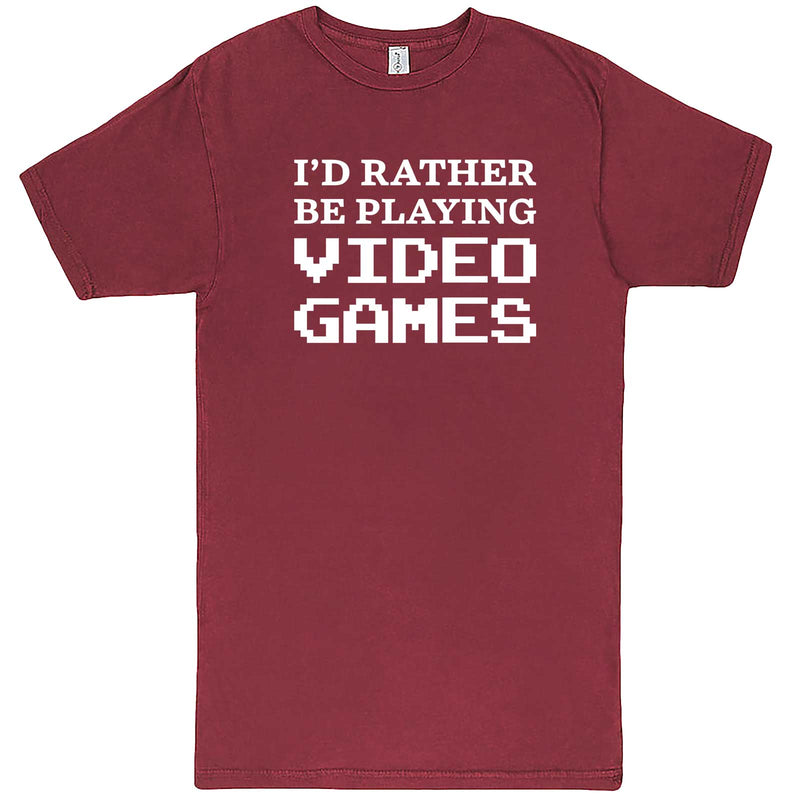 """I'd Rather Be Playing Video Games"" men's t-shirt Vintage Brick"