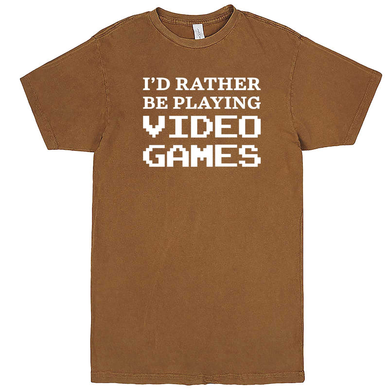"""I'd Rather Be Playing Video Games"" men's t-shirt Vintage Camel"
