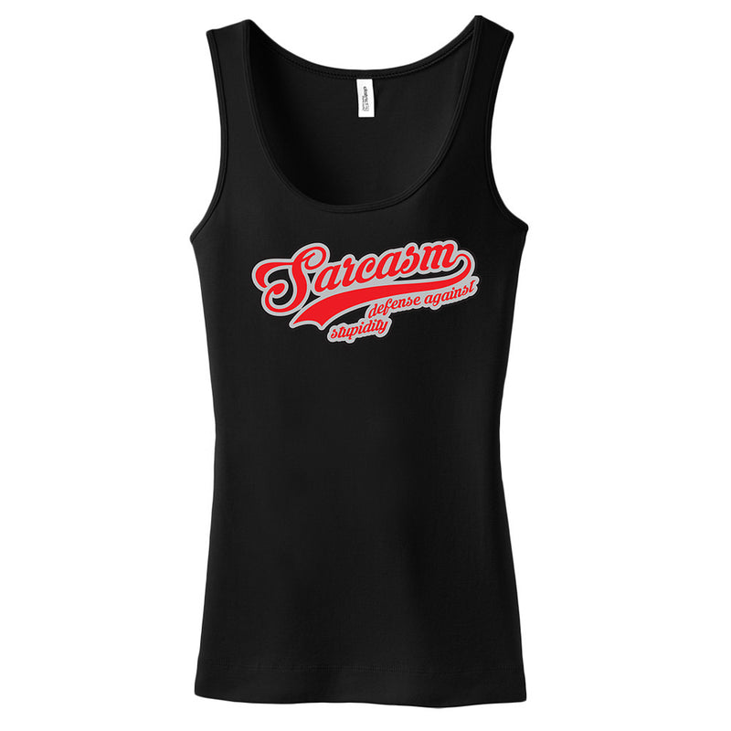 Sarcasm Defense Against Stupidity Women's Tank Top