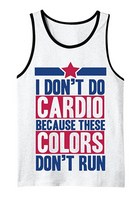 I Don't Do Cardio - Men's Tank top White (MEDIUM)
