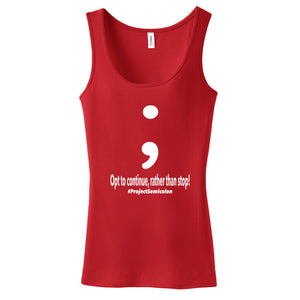 Project Semicolon Inspired Ladies Tank Top
