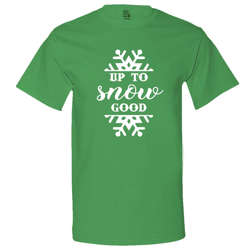"""Up to Snow Good"" men's t-shirt Irish-Green"