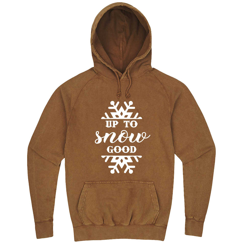 """Up to Snow Good"" hoodie, 3XL, Vintage Camel"