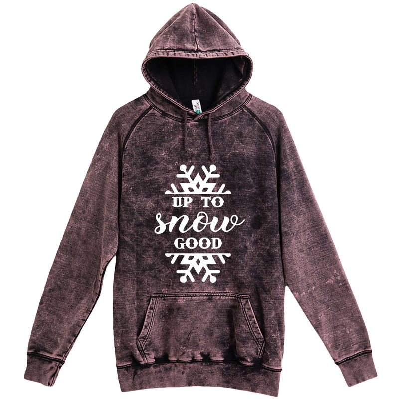 """Up to Snow Good"" hoodie, 3XL, Vintage Cloud Black"