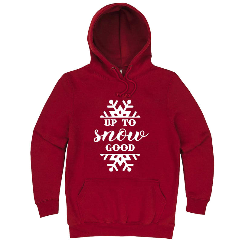 """Up to Snow Good"" hoodie, 3XL, Paprika"