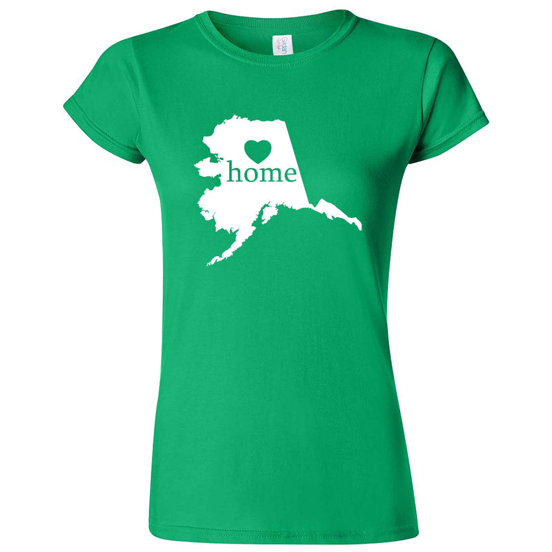 """Alaska Home State Pride"" women's t-shirt Irish Green"