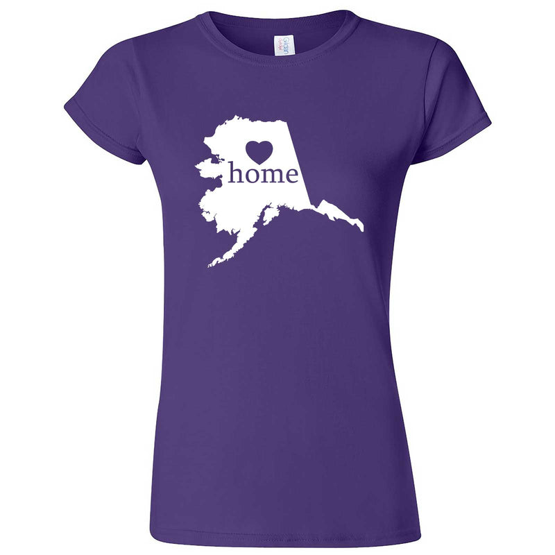"""Alaska Home State Pride"" women's t-shirt Purple"