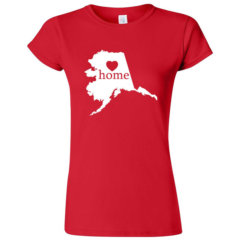 """Alaska Home State Pride"" women's t-shirt Red"