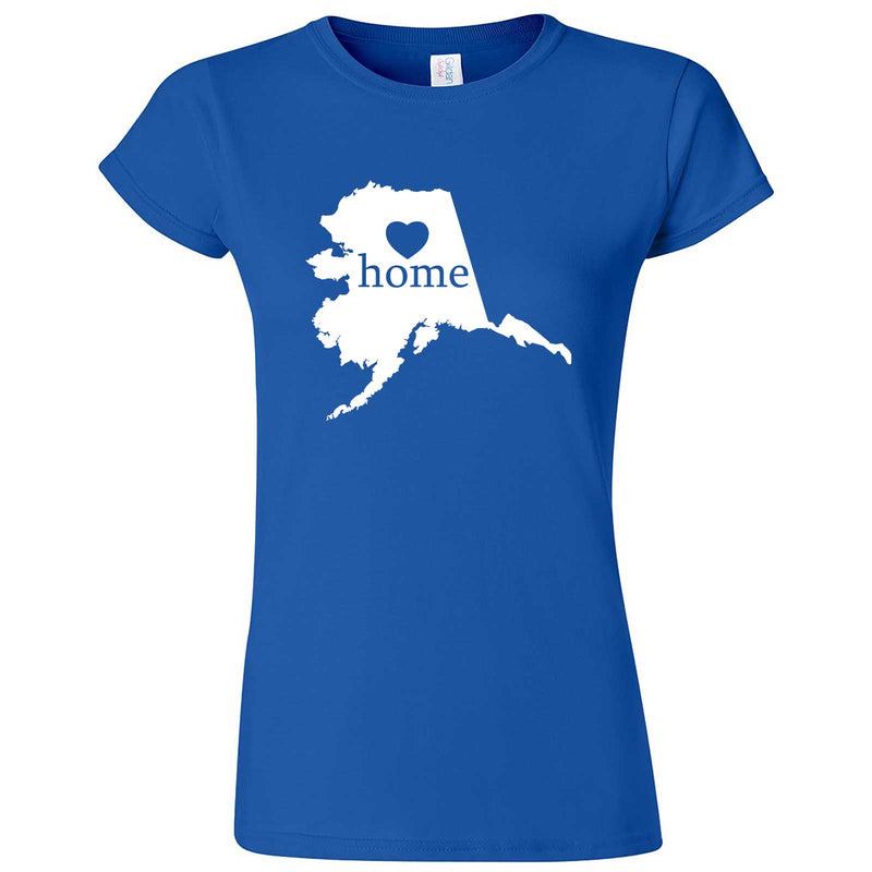 """Alaska Home State Pride"" women's t-shirt Royal Blue"