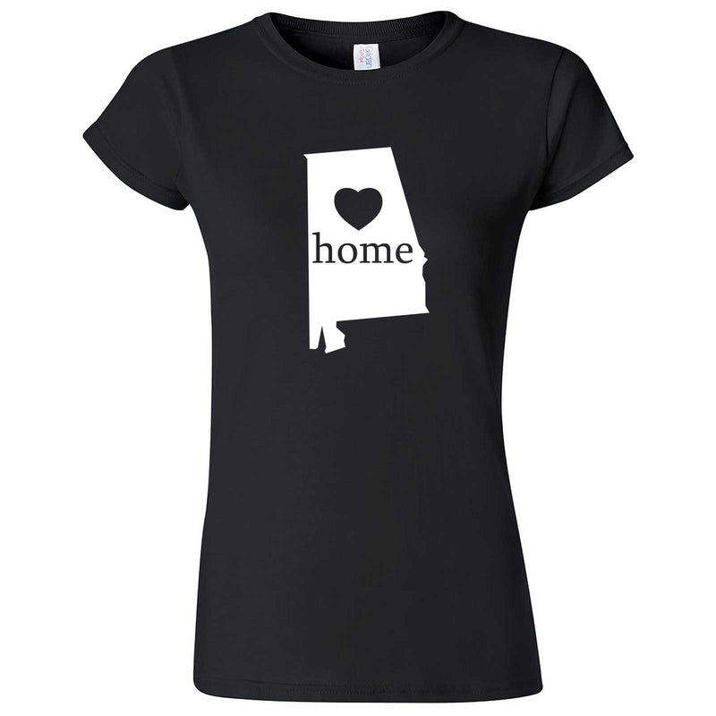 """Alabama Home State Pride"" women's t-shirt Black"