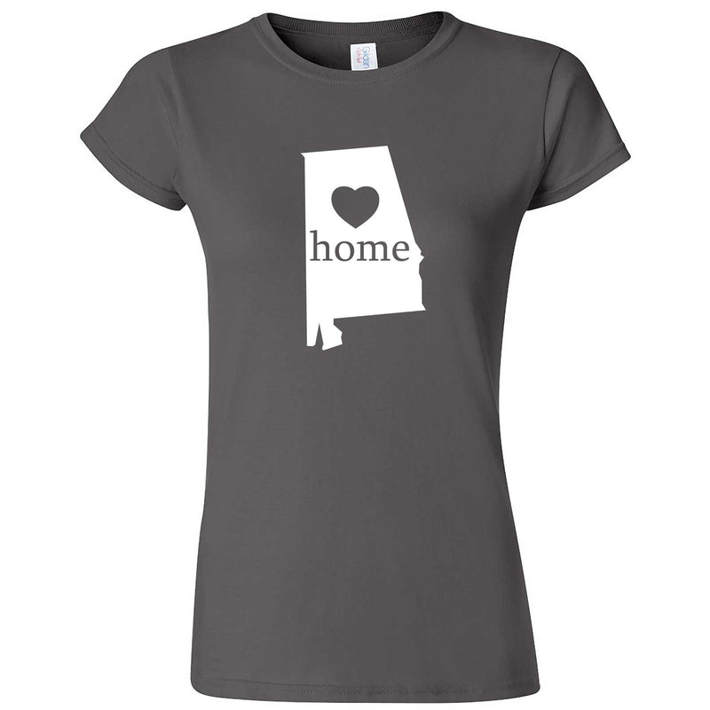 """Alabama Home State Pride"" women's t-shirt Charcoal"