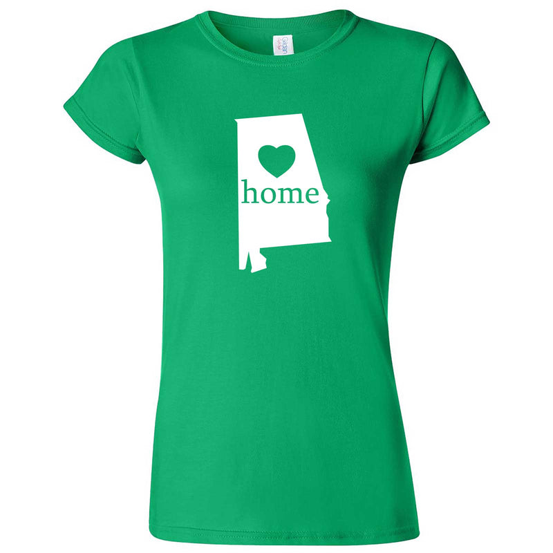 """Alabama Home State Pride"" women's t-shirt Irish Green"