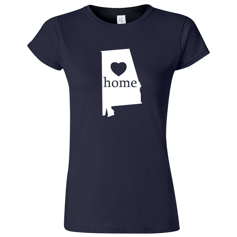 """Alabama Home State Pride"" women's t-shirt Navy Blue"