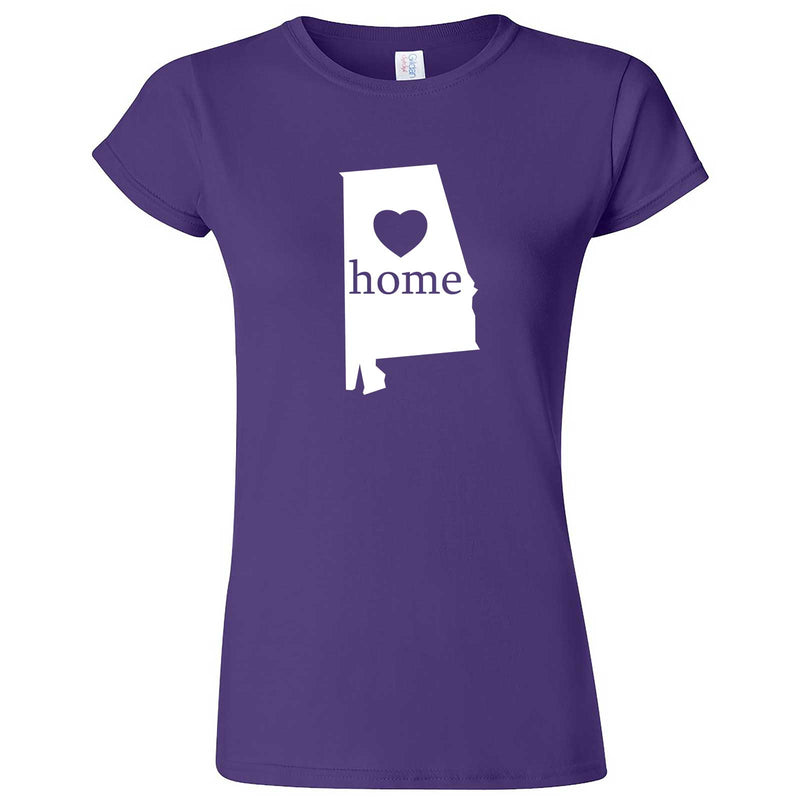 """Alabama Home State Pride"" women's t-shirt Purple"