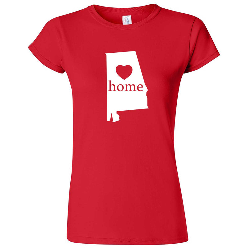 """Alabama Home State Pride"" women's t-shirt Red"