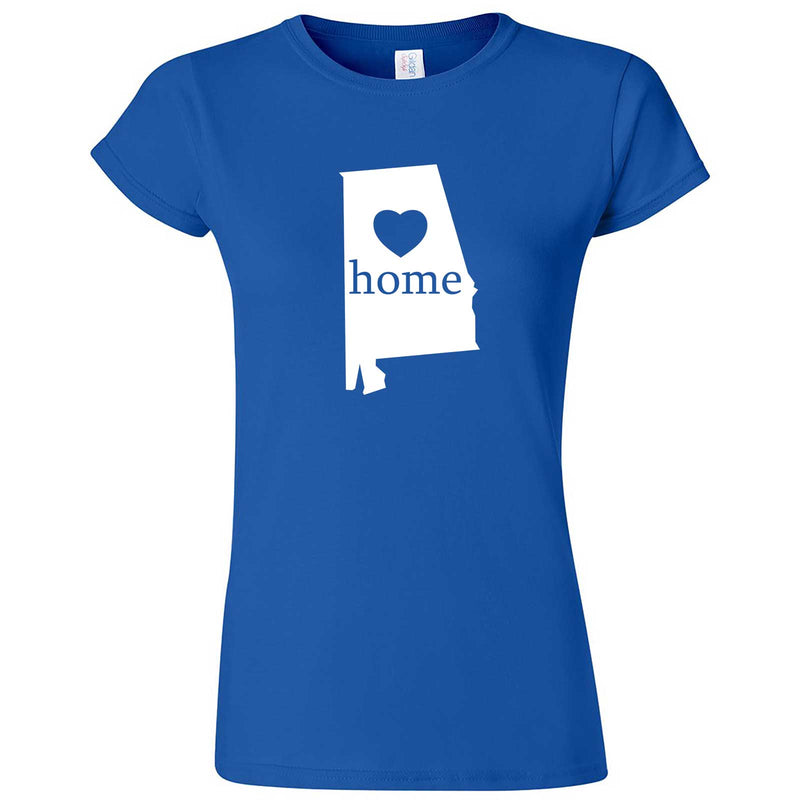 """Alabama Home State Pride"" women's t-shirt Royal Blue"