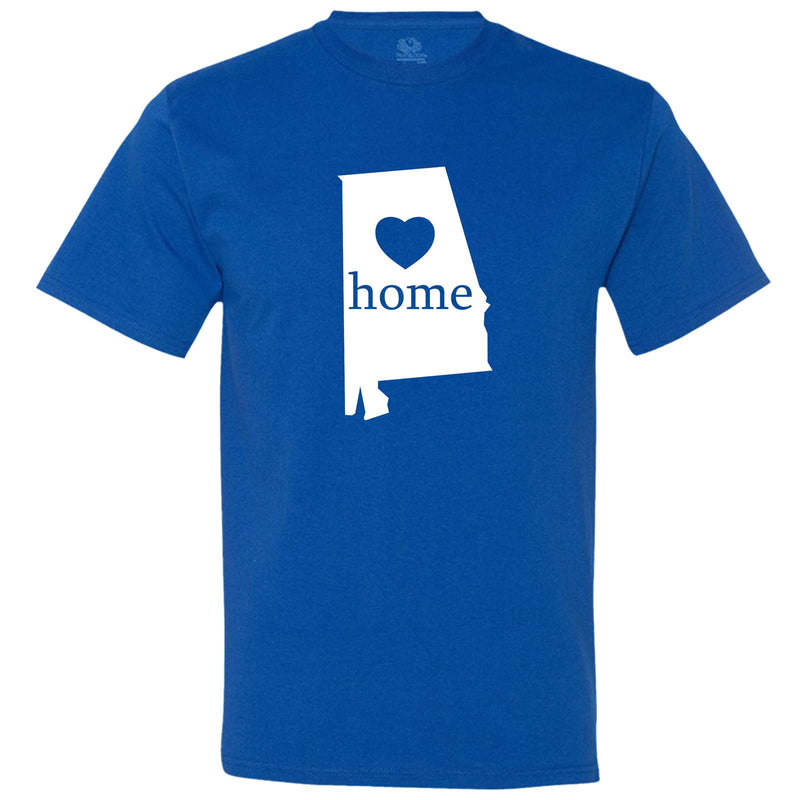 """Alabama Home State Pride"" men's t-shirt Royal-Blue"