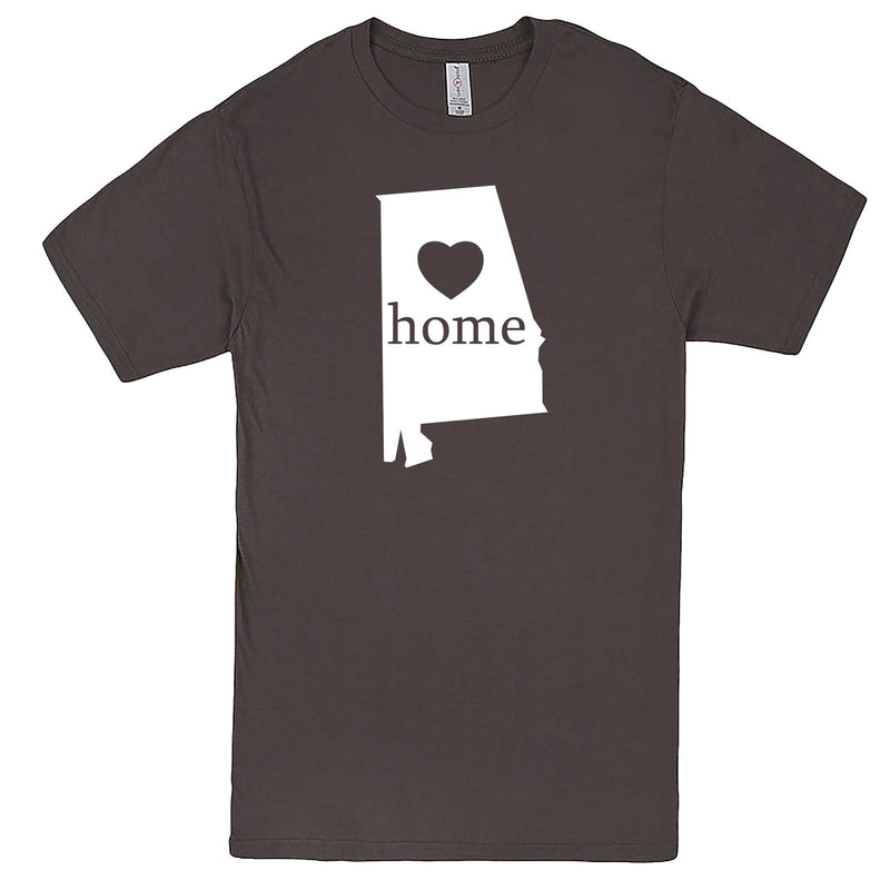 """Alabama Home State Pride"" men's t-shirt Charcoal"