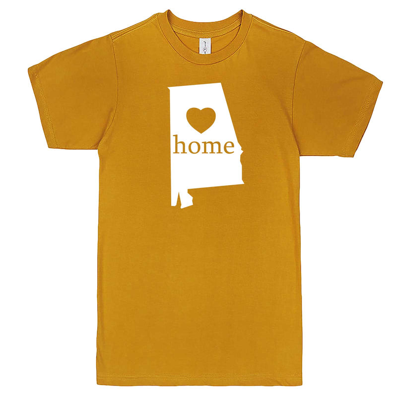 """Alabama Home State Pride"" men's t-shirt Mustard"