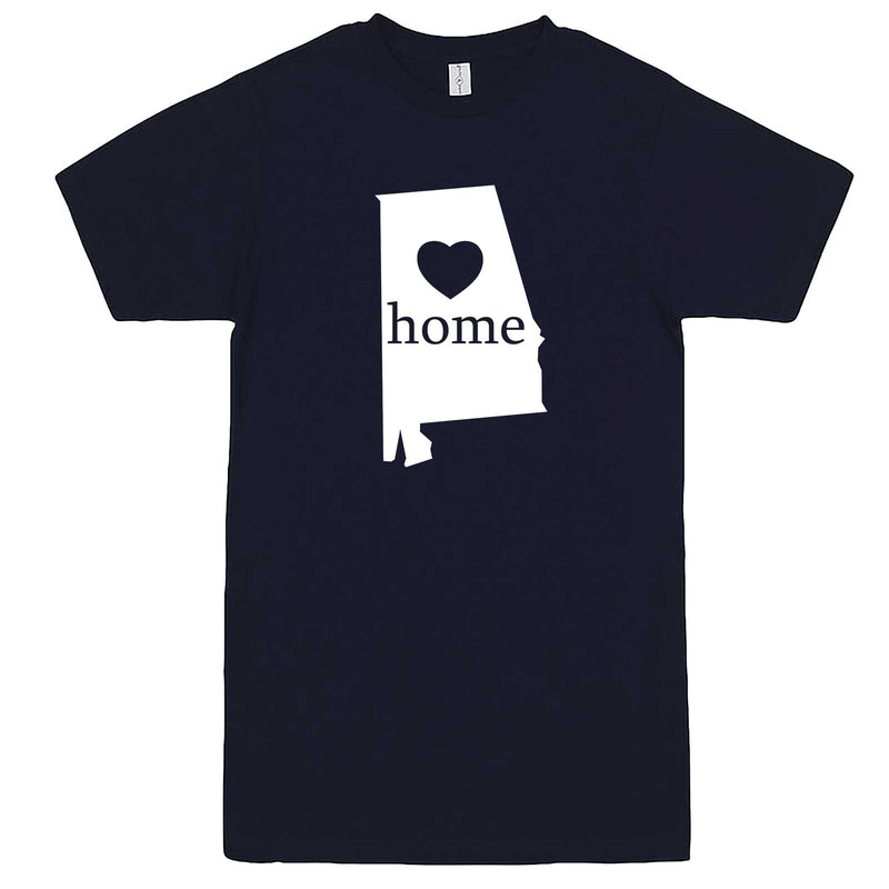 """Alabama Home State Pride"" men's t-shirt Navy-Blue"