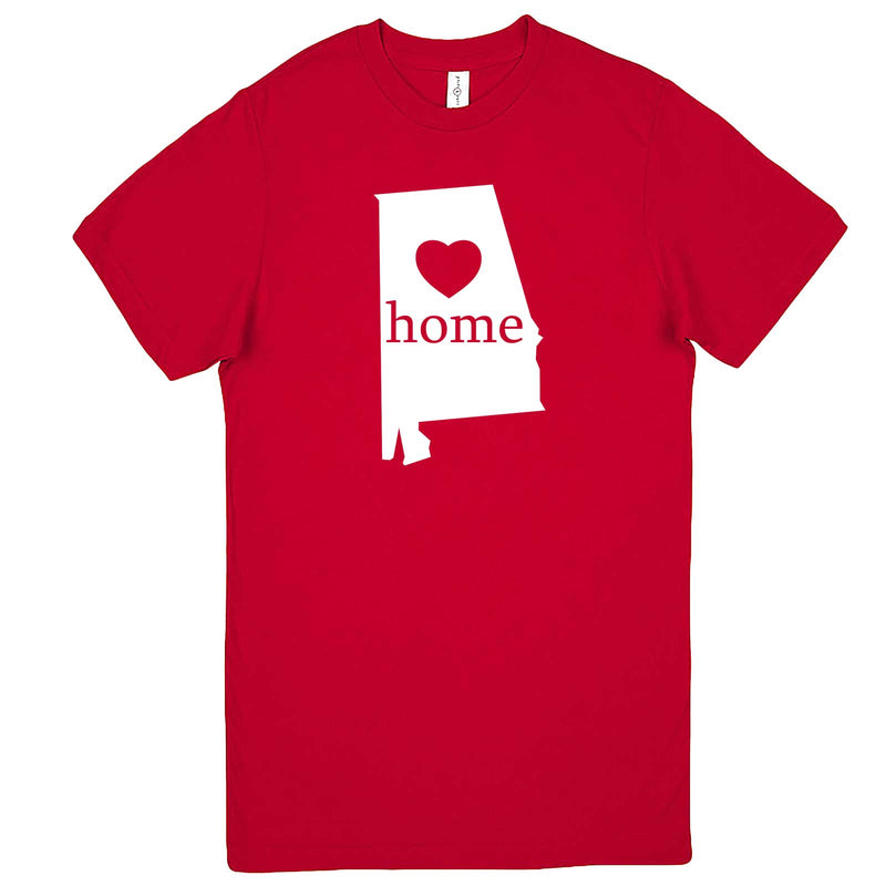 """Alabama Home State Pride"" men's t-shirt Red"