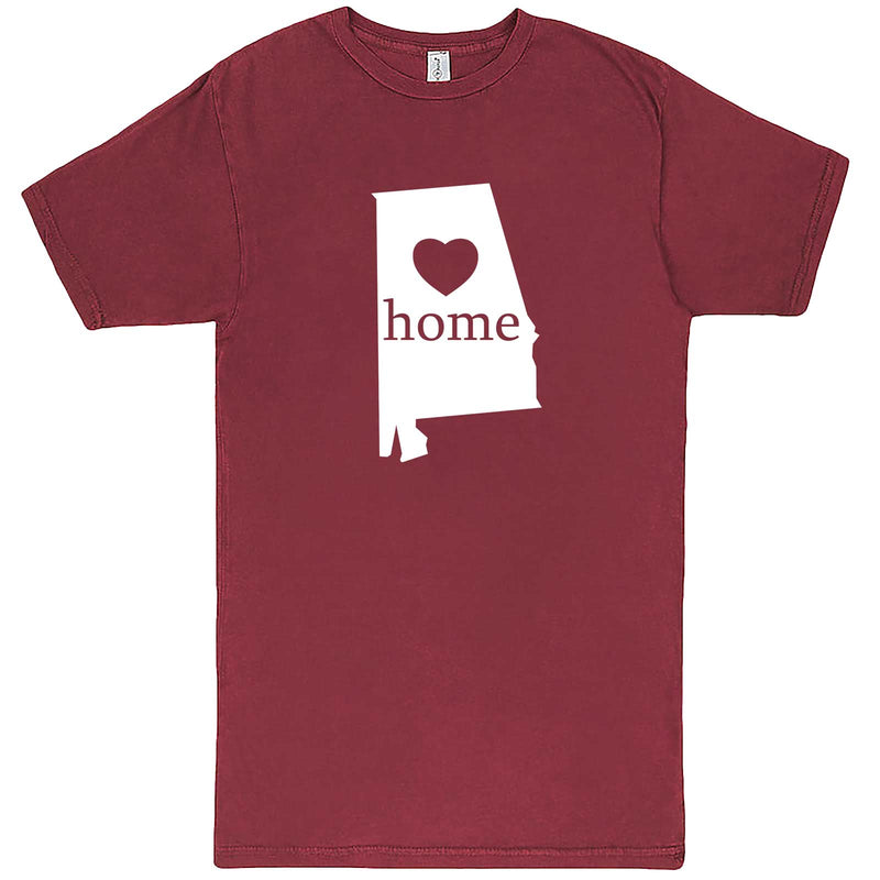 """Alabama Home State Pride"" men's t-shirt Vintage Brick"