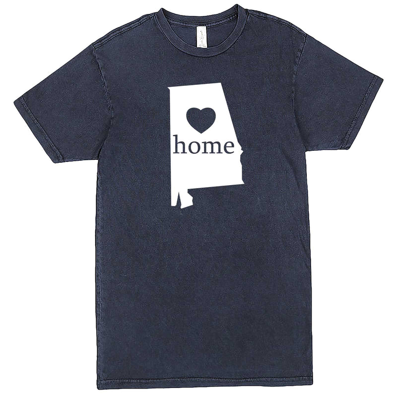 """Alabama Home State Pride"" men's t-shirt Vintage Denim"