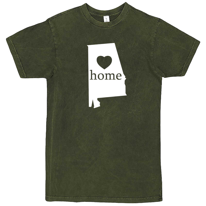 """Alabama Home State Pride"" men's t-shirt Vintage Olive"