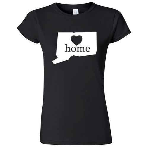 """Connecticut Home State Pride"" women's t-shirt Black"