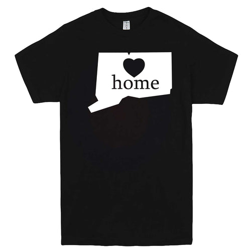 """Connecticut Home State Pride"" men's t-shirt Black"